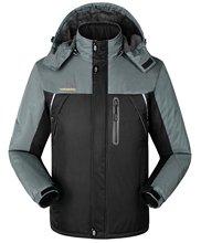 Abetteric мужские Зимние Горы Руно Ветрозащитный Куртка Плюс Размер