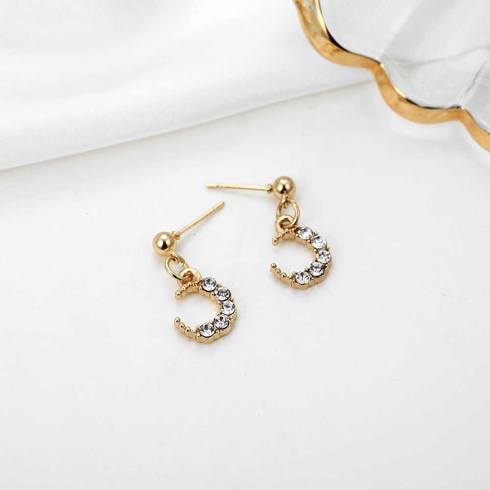 Корейские популярные новые золотые серьги со стразами простые длинные висячие серьги для женщин Эффектные серьги, ювелирные изделия 2019