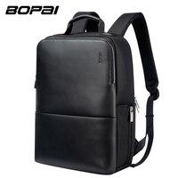 BOPAI Brand Laptop Backpack Anti Theft Backpack Men 15 Inch Microfiber Shoulders Travel Laptop School Bag