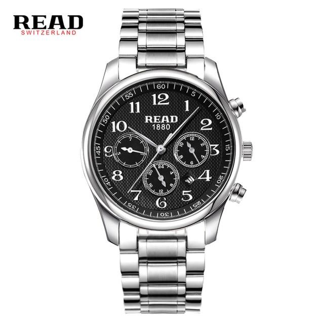 ФОТО READ watch Multi-functional sports men's watch fashion belt watch quartz watch R6082