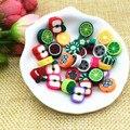 10 mm Mix diseño de la fruta rebanadas arcilla del polímero de los granos surtidos colores del grano Manualidades materiales para Manualidades expositoras y Abalorios 100 unids