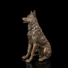 Best Selling  High Quality Sculpture Art Collection Little Pet Dog Bronze Statue Home Decoration Christmas Gifts