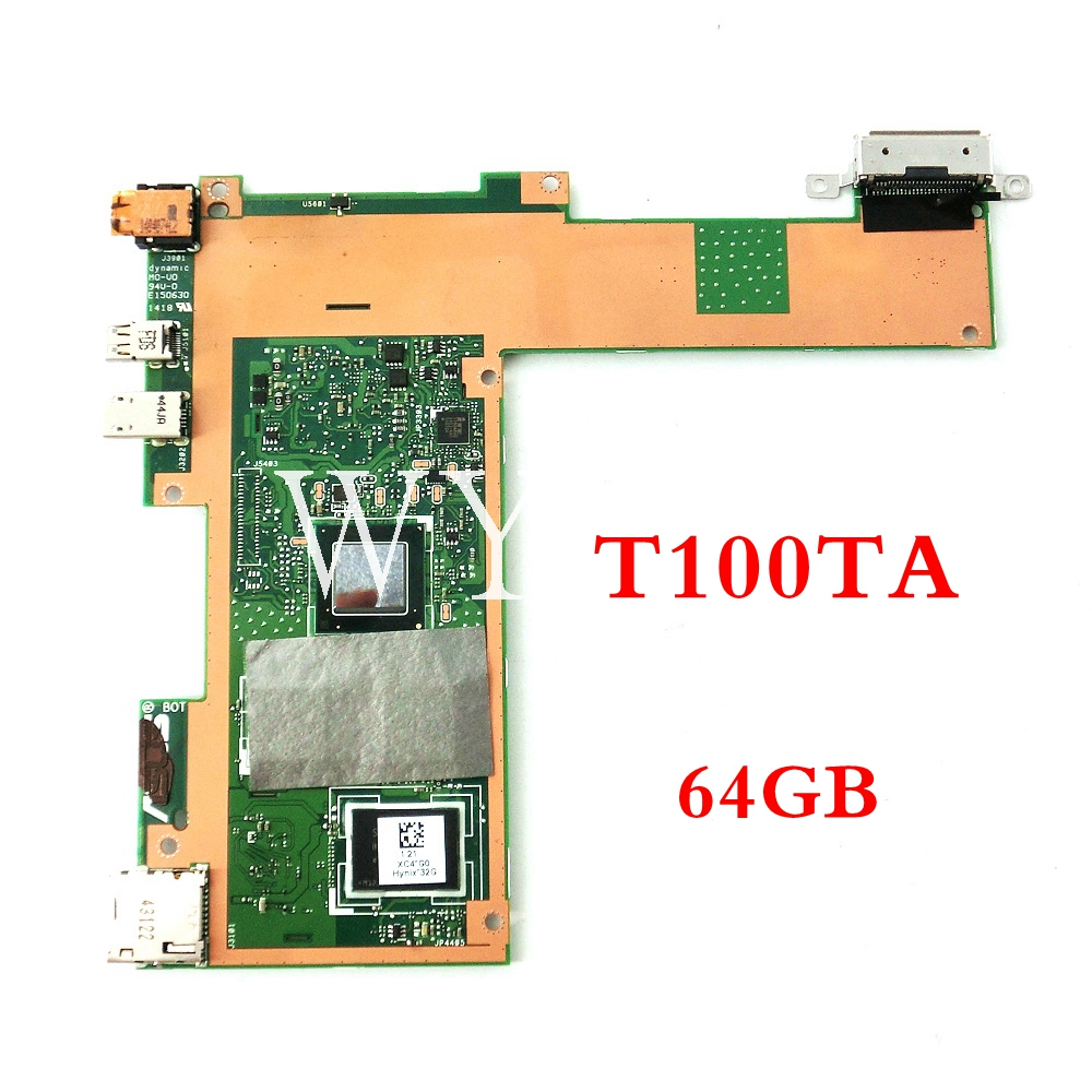 T100TA 64GB mainboard For ASUS T100T T100TA 1.33GHz CPU tablet motherboard MAIN BOARD MEMORY 60NB0450-MB2060 tested fully send board t100ta motherboard 64gb for asus t100ta t100taf t100t laptop motherboard t100ta mainboard t100ta motherboard test ok