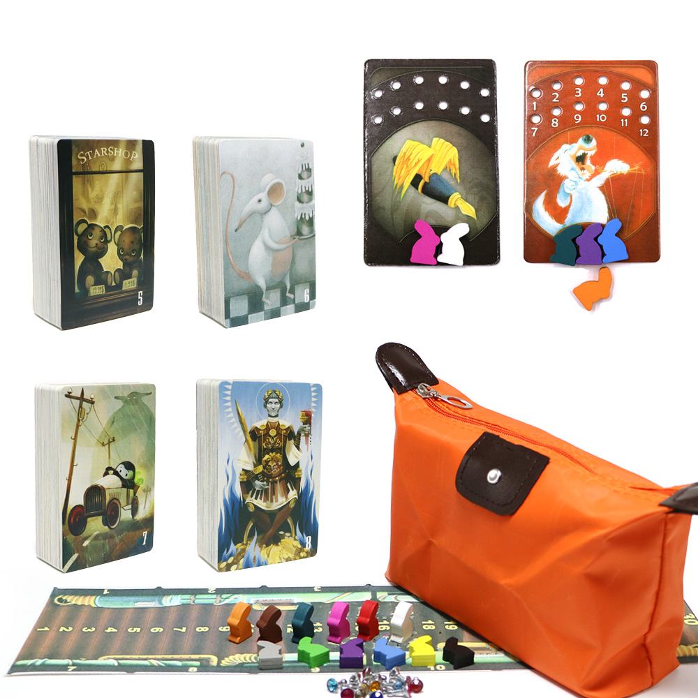2019 High Quality Obscure Dixit 5 6 7 8 Cards Game Total 336 Cards Wooden Bunny English & Russian Board Game For Kids Home Party