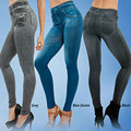 Плюс размер узкие брюки женская зима весна леггинсы тонкий имитация жан женские теплые jeggings с 2 реальных карманы Карандаш брюки