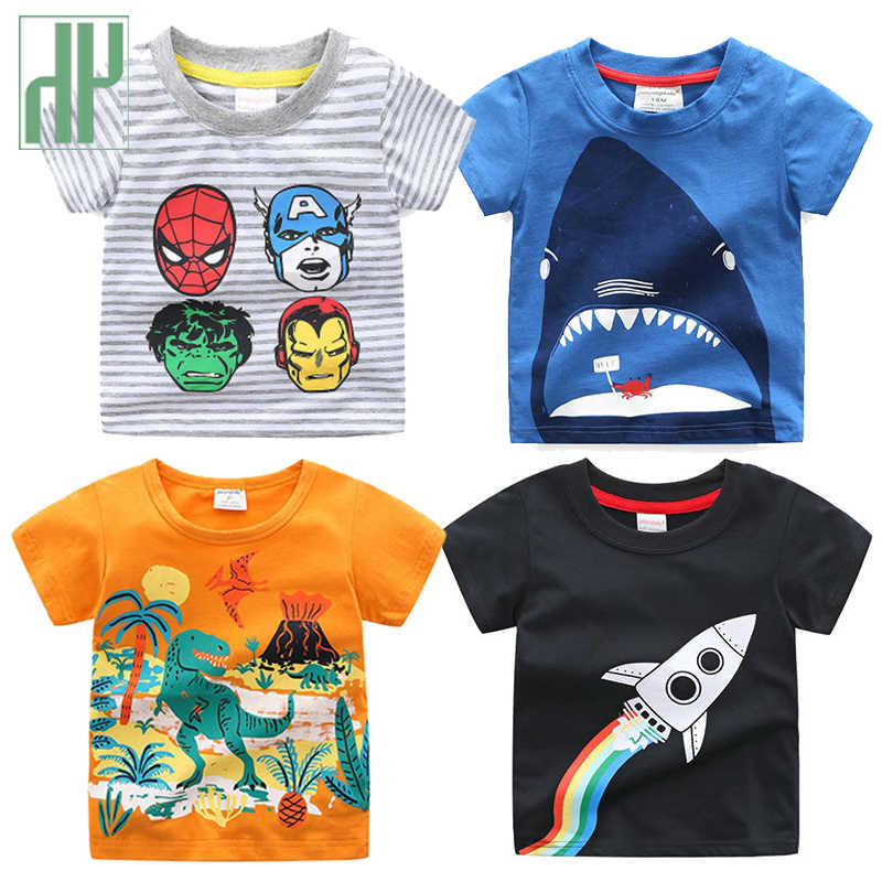 Kinder t-shirt shark dinosaurier tier druck Casual T-shirt Toddlder junge mädchen cartoon t-shirt sommer Kinder T Shirts Tops