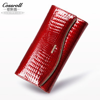 New Female Genuine Leather Wallet Women Luxury Brand Cow Leather Long Women S Wallets And Purses