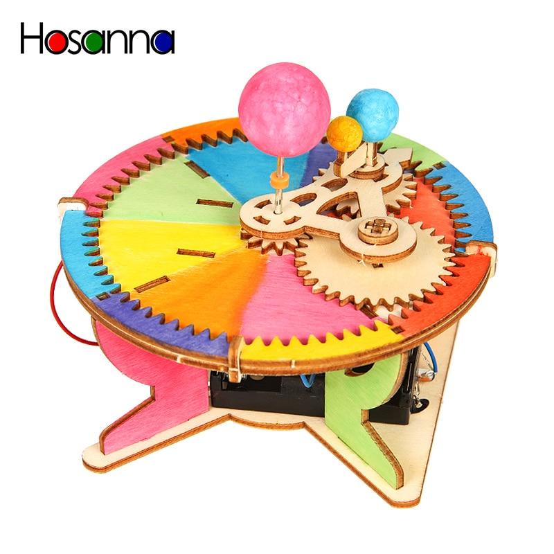Tige de jouets en bois pour enfants, Kit de modèle de voiture électrique, expérience découverte, assemblage incroyable, jouets éducatifs pour enfants