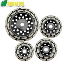 цена на SHDIATOOL 1pc Diamond Double Row Grinding Cup Wheel 100mm/4 115mm/4.5 125mm/5 180mm/7 Twin Row Grinding Disc Granite Marble