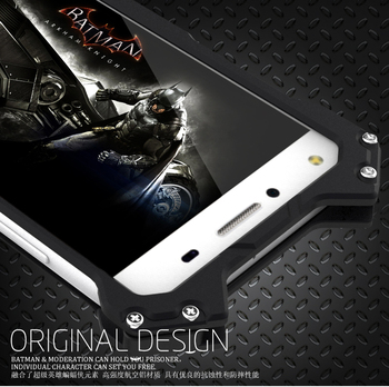 R-just Brand Luxury Batman Design Metal Aluminum Armor Case For Huawei Honor 8 V8 Honor8 Case Cover Phone Shell Skin Capa Fundas image