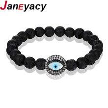 Браслет janeyacy из натурального камня для мужчин и женщин браслет