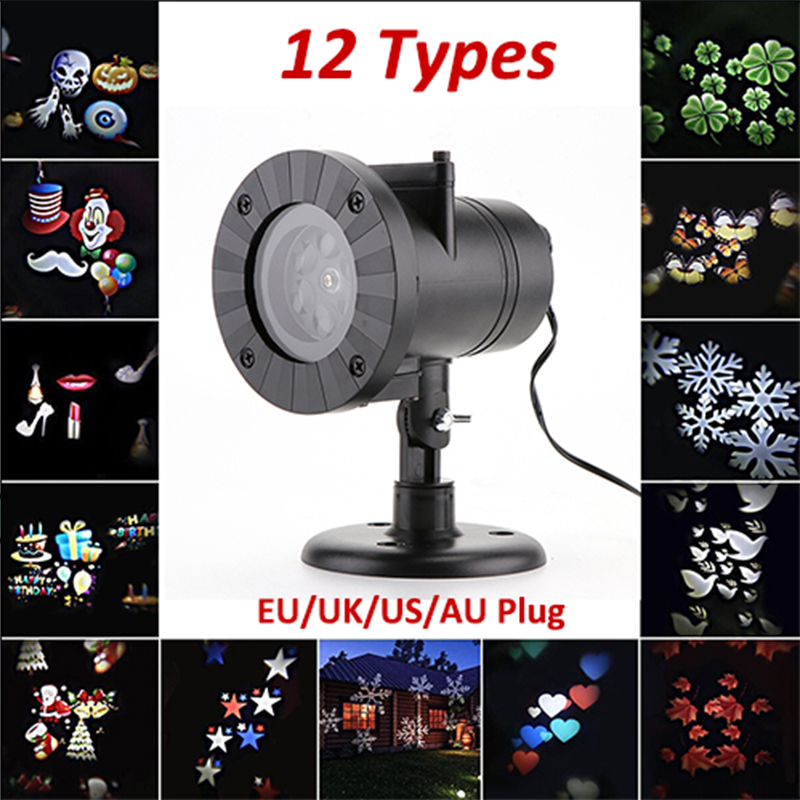 Christmas LED Stage Light Laser Snowflake Projector Lamp Disco Home Garden Star Light Lights Indoor Outdoor Decoration 12 Types newyear waterproof led snowflake laser projector lamps stage light christmas party garden home decoration outdoor