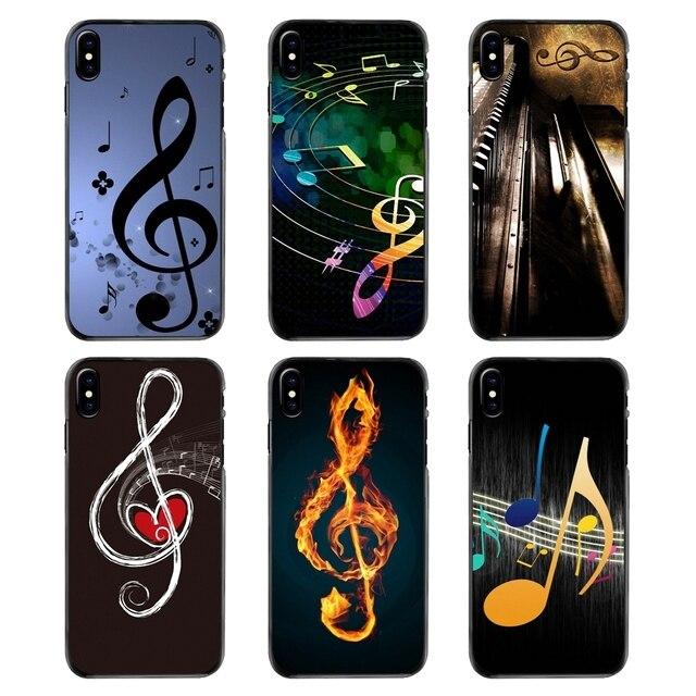 Acessórios Capas Para iPhone 4 4S 5 5S 5C SE 6 6 S 7 8 Plus X XR XS Max iPod Touch 4 5 6 Notas Musicais Violino Música Clássica Arte