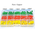 600pcs/set 3 colors 22~12AWG Wire Copper Crimp Connector Insulated Cord Pin End Terminal Bootlace Pure cooper Ferrules kit set