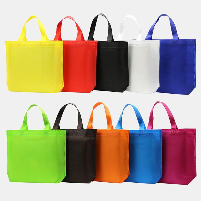 500pcs/lot 26Hx33x10cm Custom Cheapest Bag Eco Reusable Shopping Bags  Grocery Packing Recyclable Bag Simple Design Tote Handbag