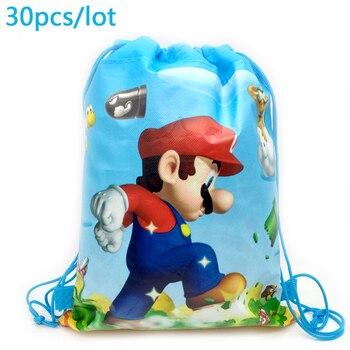 Super Mario tema Baby Shower Mochila eventos fiesta niños favores Feliz cumpleaños...