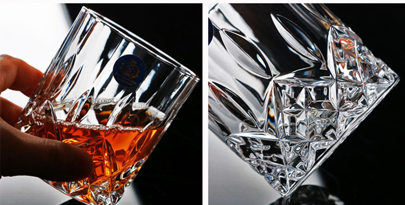 Image 5 - Brand Wine Glass Lead free Heat Resistant Transparent Crystal Beer Whiskey Brandy Vodka Cup Multi Pattern Drinkware Bar GiftsTransparent   -