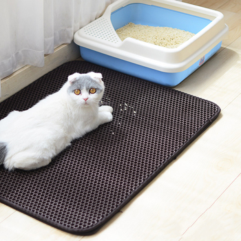 Cat Litter Mat With Waterproof Bottom Layer And Non-Slip Mat For Easy Cleaning