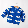 Hotsale Baby Clothes Baby Bobo Chose Cloud Pattern Sweaters Boys Girls Long Sleeve Clould Cardigan Kids Cartoon Sweater 81143