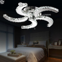 Creative Personality LED K9 Crystal Chandelier Modern Living Room Dining Room Bedroom Lamp Hall Luxury Lamp