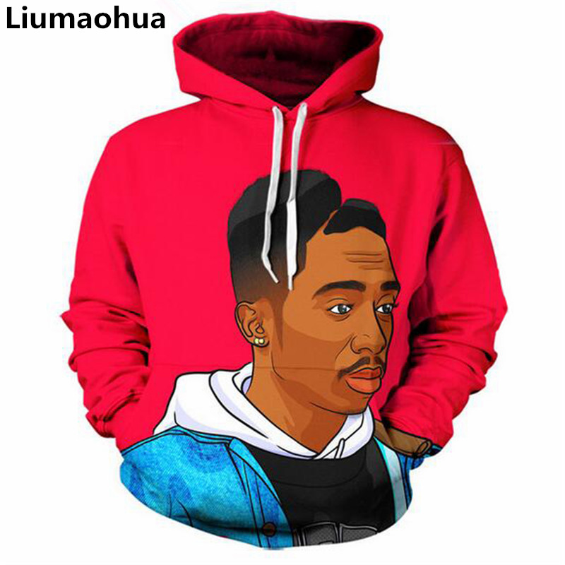 Generous Liumaohua Hot Sale Men/women New Fashion 3d Hoodies Tupac Shakur 2pac Character Print Sweats Jumper Casual Hoodie Tops Men's Clothing