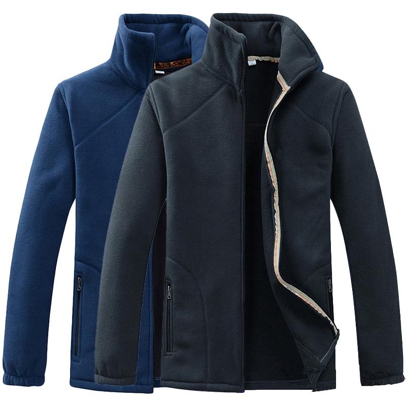 LoClimb Men's Polar Fleece Jacket Men 2018 Spring Warm Outdoor Sports Windproof Coats Male Trekking Camping Hiking Jackets,AM210