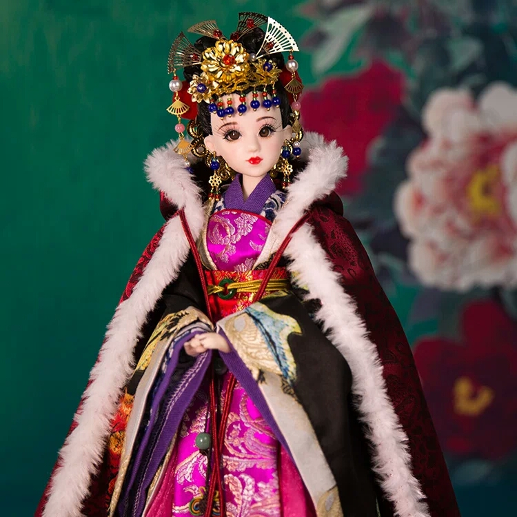 """무료 배송 12 """"관절과 빈티지 중국 입상 인형 인형 판매가 345에 대한 움직일 수 예쁜 여자 Bjd 인형"""