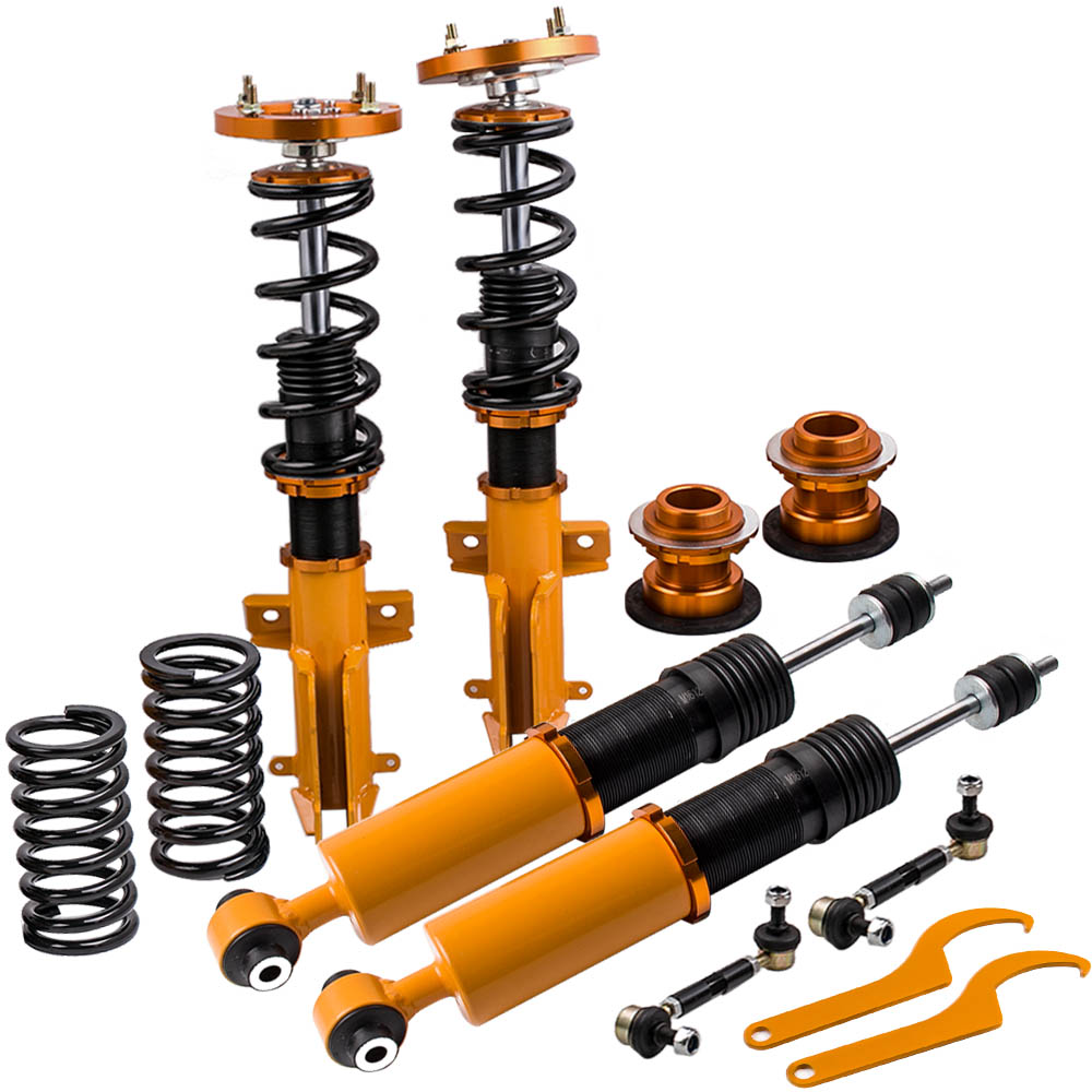 Coilovers Kits for Ford Mustang GT 05 14 Adjustable Height Top Hats Coilover Suspension lowering Kits Golden Springs Dampring