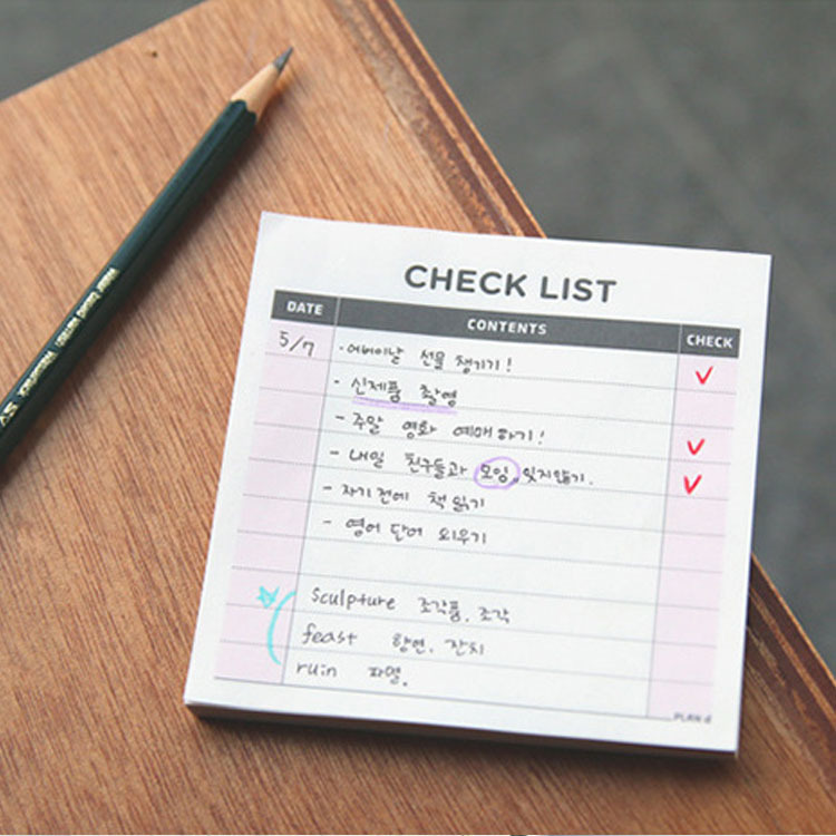 Hot-selling Small Memo Pad, Office Desk Tear-off Check List To Do List Notepad School Stationery Small Week Month Planner