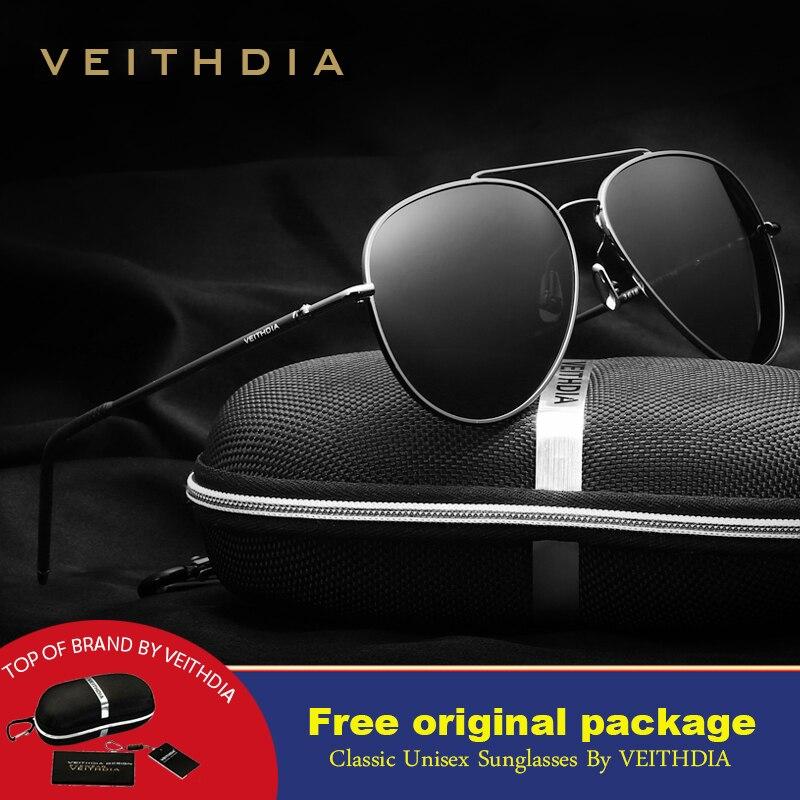 beeabdf2a2f7f De Alumínio E Magnésio Aviação VEITHDIA Polarizados dos homens óculos de sol  de marca designer de