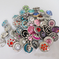 50pcs/lot  wholesale 12mm snap button lot mix styles colors small button snap jewelry interchangeable ginger snap button charm