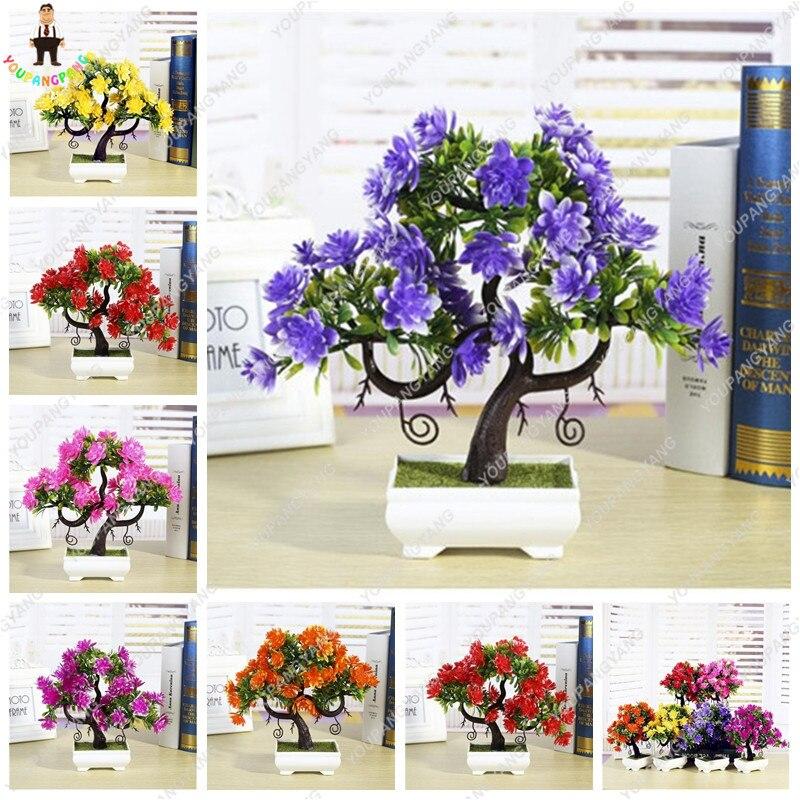 Mini Bonsai Gardenia Seeds, Office Desktop Flowers, Fragrant Four Seasons Evergreen Flower Pots Planters, DIY Home Garden 50Pcs
