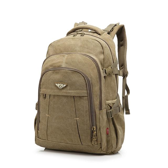 Men Backpack Fashion Canvas Vintage Backpack Leisure Shoulder Travel Male  School Bags Laptop Computers Unisex Rucksacks 649c955f5