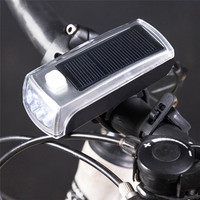 HOT 2 In 1 Charge The New 4 LED Bike Solar Headlamp Speaker Bicycle Bell Bike
