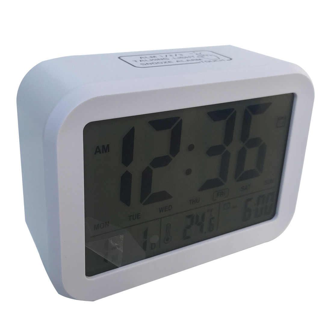 Homingdeco световой бесшумные электронные цифровой будильник арабскими цифрами сенсорный зондирования Silent настольные часы для домашнего декора