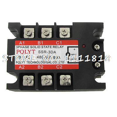 80A 3-32V DC to 480V AC 3 Phase SSR Solid State Relay dc ac single phase ssr solid state relay 120a 3 32v dc 24 480v ac