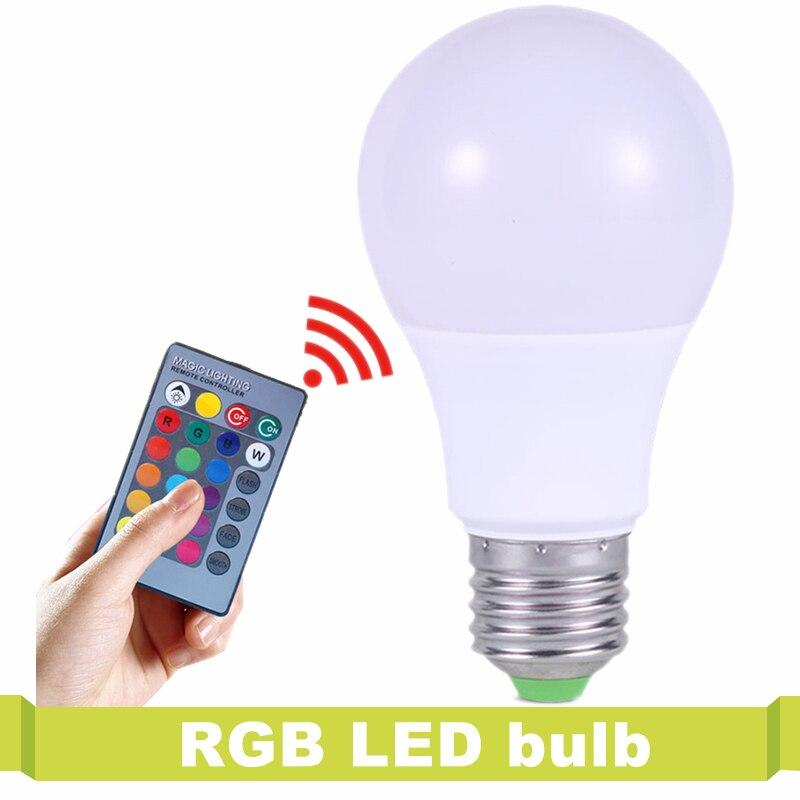 T.Y.S 16 Color IR Remote Control Home Christmas Decor LED Lamp Light LED Bulb lampara Lamp 220V RGB LED Lamp E27 3W RGB Lampada