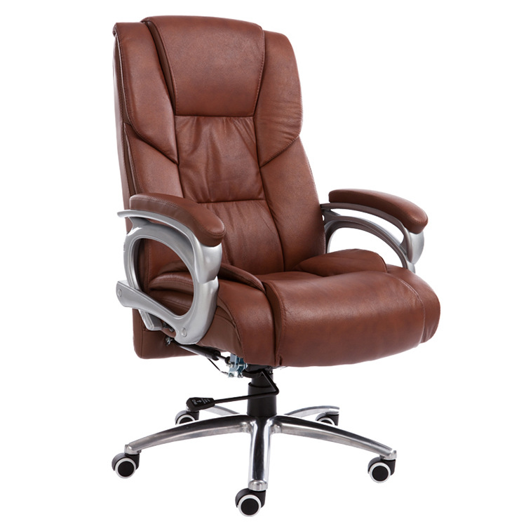 High Quality Computer Chair Household Leisure Lying Boss Chair Rotary Lifting Office Chair Aluminum Alloy Foot Swivel Chair 240337 ergonomic chair quality pu wheel household office chair computer chair 3d thick cushion high breathable mesh