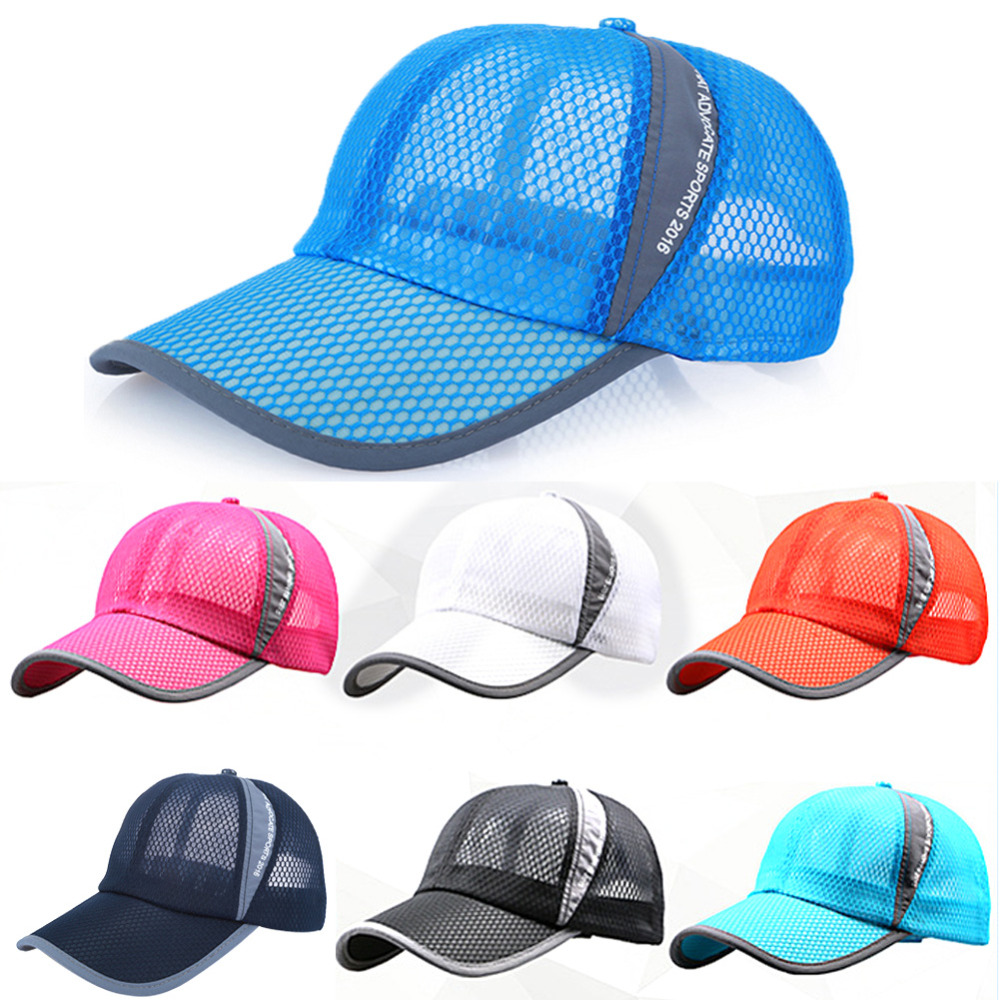 2017 New Summer Baseball Caps mesh sunhats Caps Breathable Mesh Hat Casual  For Mens Women Chapeau Hot ac5230acb390