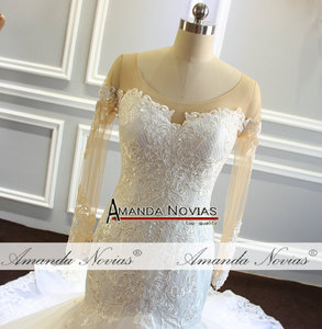 Image 3 - robe mariage Mermaid Wedding Dress Amanda Novias Real Work Photo 2019 Bride