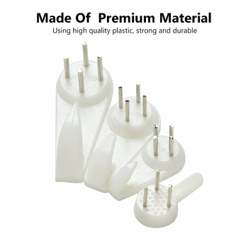 60pcs White Painting Photo Frame Hook Plastic Invisible Wall Hooks Mount Photo Picture Nail Hook Hanger Mirror Hanging Hangers mini hook hanging picture oil painting mirror mirror cross stitch picture photo frame 2 holes hooks hangers with screws