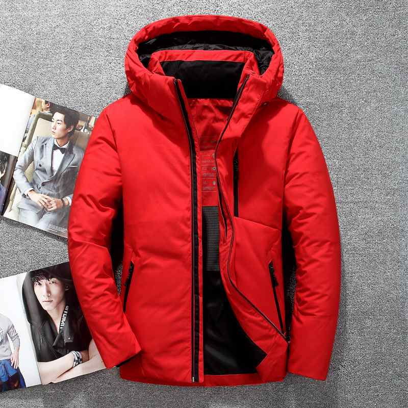 Mens Hooded Duck   Down   Jacket Man Thick Winter   Down     Coats   Male Fashion High Quality Overcoats Keep Warm Parkas Outerwear JK-633