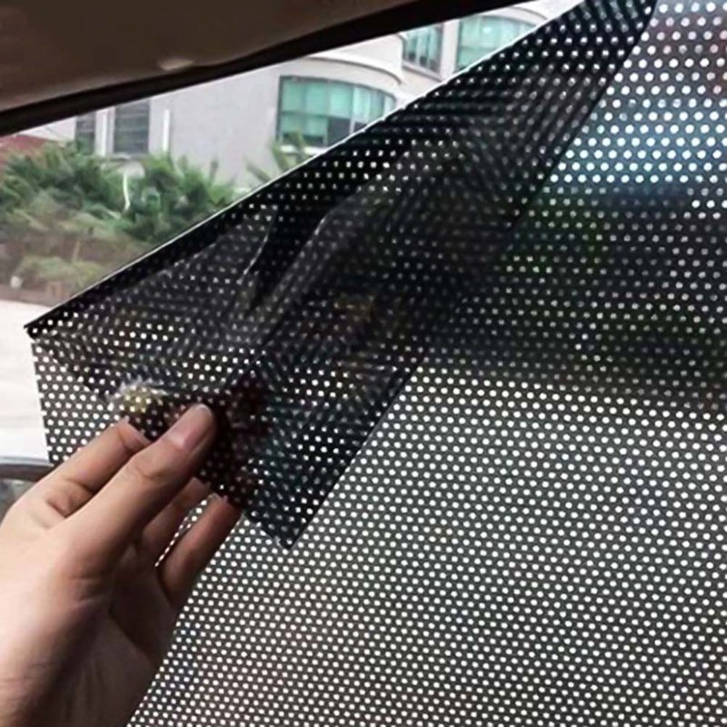 2Pcs/Lot Car Styling Window Foils Sticker Car Sunshade Auto Vehicle Sun Block Sun-shading Electrostatic Stickers the window office paper sticker pervious to light do not transparent bathroom window shading white frosted glass tint