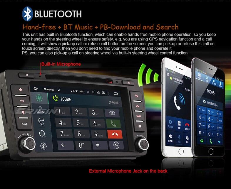 "Erisin ES3026S 8"" Android 5.1 Car DVD GPS DAB+ for SKODA OCTAVIA"