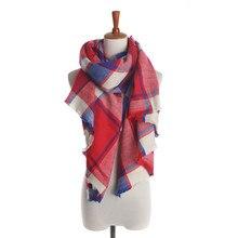 Winter Tartan Scarf Desigual Plaid Scarf cuadros New Designer Unisex Acrylic Basic Shawls Women s Scarves