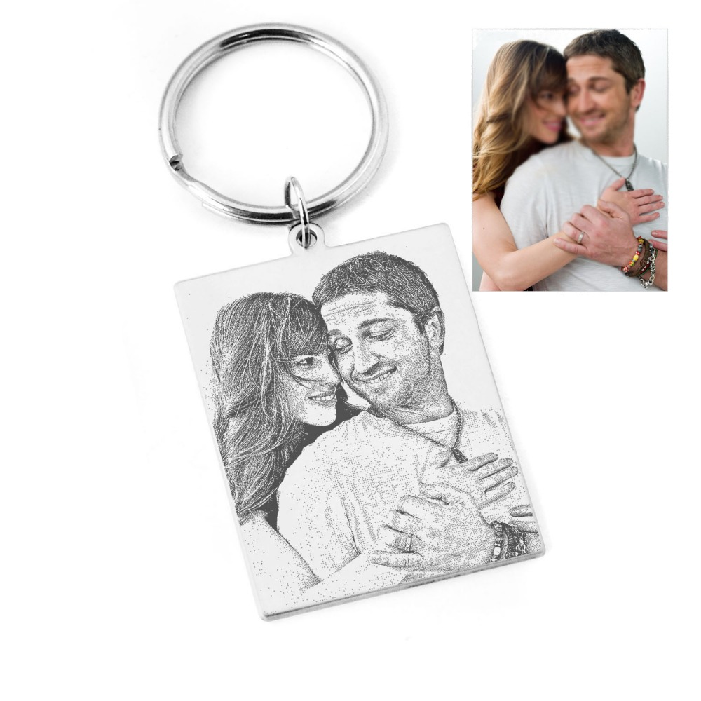Custom Photo Calendar Keychain,Customized Date Key Ring,Special Date Keyring For Husband Boyfriend,Personalized Gift For Her Him