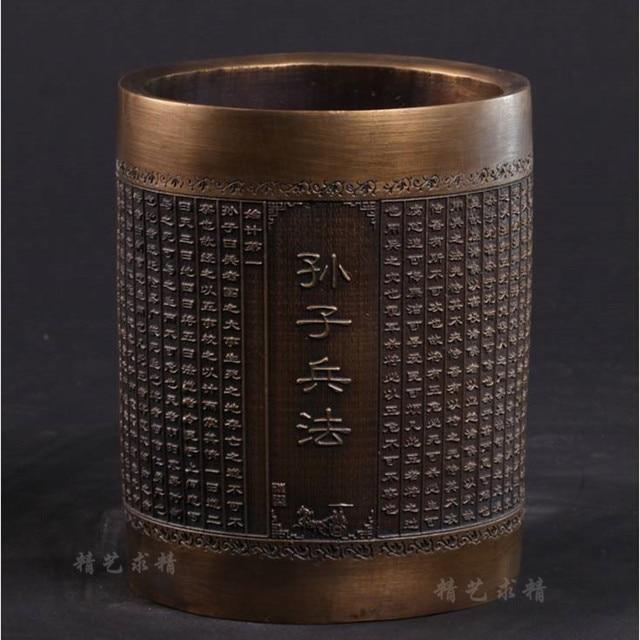 Sun Tzu bronze ornements stylo Soleil Wu art bijoux cadeau bureau dans la période des Royaumes combattants à étude Feng Shui décoration