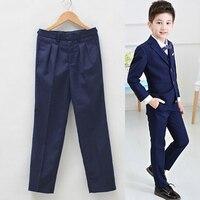 WENDYWU NEW Student Performances Full Pantaloni Big Boys Pants For Trousers Kids Suit Boy Pantalon Garcon Enfant Ragazzo
