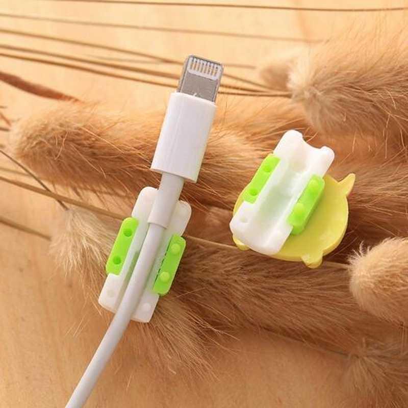 Bonito dos desenhos animados cabo protetor de linha de dados cabo protetor caso protetor protetor cabo enrolador capa para iphone usb cabo de carregamento 25 estilos