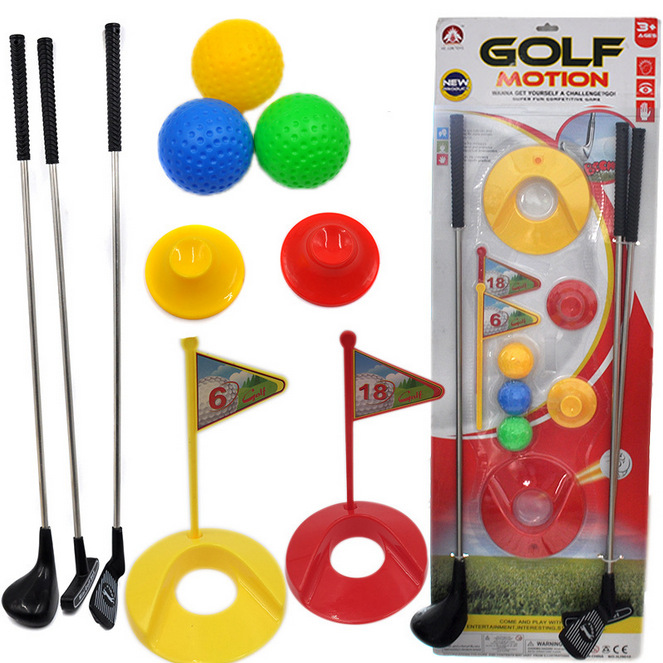 Sports Park Childrens Indoor Golf Club Suit Match Ball Outdoor Parent-child Toys A Gift To A Child